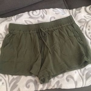 Army green shorts